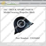 JAC truck spare parts, middle bearing of  propeller shaft, 2202040Z