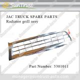 JAC truck spare parts, radiator grill assy, 5301011