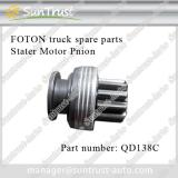 Foton forland spare parts, Stater Motor Pinion,QD138C