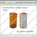 Foton Ollin spare parts, air filter, K2038