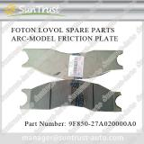 Foton Lovol heavy machine parts, ARC-MODEL FRICTION PLATE,9F850-27A020000A0