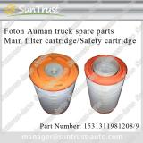 Foton Auman spare parts, Main filter cartridge,Safety cartridge,1531311981208,K2845