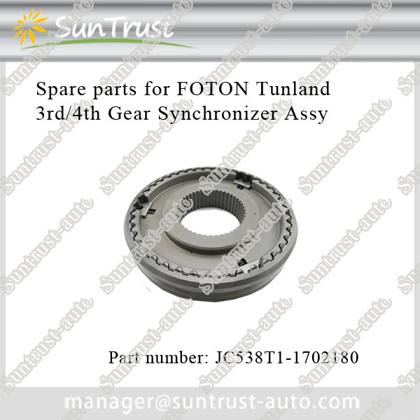 Foton Tunland parts, 3rd/4th gear synchronizer assy, JC538T1-1702180