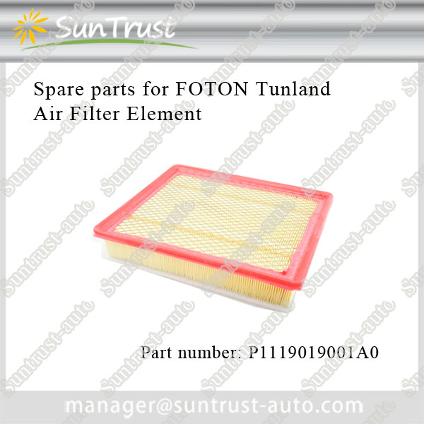 Foton Tunland parts, air filter, P1119019001A0